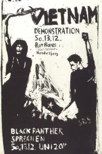 Bild 4: Repro des Plakats zur Heidelberg-Demo